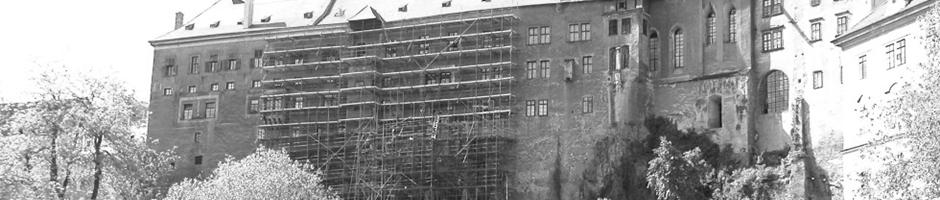 Projekt rekonstrukce fasády na zámku Český Krumlov